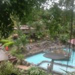 My favorite (hot) pool, with waterslide and swim-up bar!