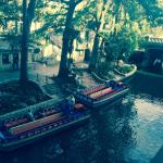 View from the hotel of the Riverwalk below