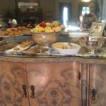 side buffet at breakfast...included