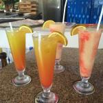 2 for 1 drinks for happy hour at the swim up bar!