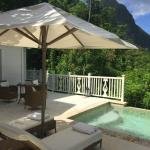 Private veranda and plunge pool