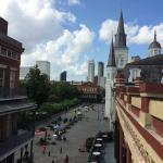 Our view of Jackson Square from the balcony outside
