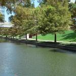 Waterway park with walking trail