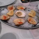 Raw smooth clams.