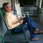 Relaxing on the Front Porch of Mast Farm Inn