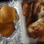 Roast Chicken and Johnny Cakes