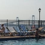 Fantastic view of the bay from the pool at the Newport Hyatt Regency!