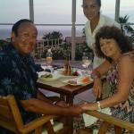 Our picture with Alesandra the hostess at Sunset and Sushi!