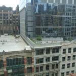 View from our window, 9th Floor looking onto Wabash.