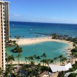 View of the Duke Kahanamoku Lagoon from our room...