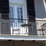 Our Balcony - Black Shutters do close to keep light out in the AM