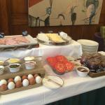 Continental breakfast display