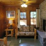 Bears den, fireplace open to living and bed rooms