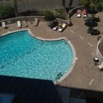 Overview of Hilton swimming pool