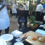 chef led salsa making contest, poolside