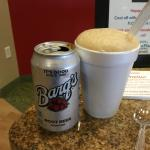 Root beer float featuring Barq's root beer.  It's the best!