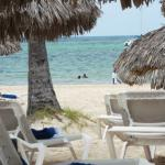 Punta Cana beach from lounge chair