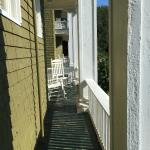 Sitting porch with rocking chairs
