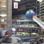 A view of CNN from inside the Atlanta Omni