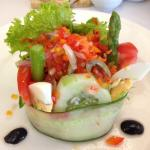 Beautiful salad from Chef