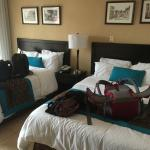Beds with our luggage on it