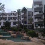 View of terrace from pool