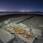 remains of the ghost town of Mormon Island re-emerge from the low waters - http://bit.ly/1XcPAuy
