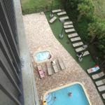 One of the pools and hot tub