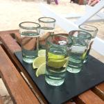 Tequila shots on the beach!