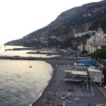 Beautiful balcony and view at this perfectly located hotel in Amalfi!