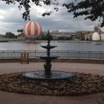 View to Disney Springs from Congress Park pool