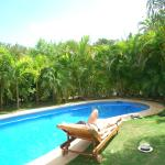 our pool at our villa