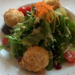 Delicious Salad with fried goat cheese