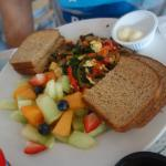 Vegan Tofu Scrambler at the Mad Batter