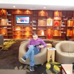 The lounge of Crowne Plaza hotel