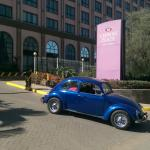 My lovely VW beetle when departing the hotel