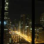 Nightime view from our window