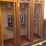 Vintage working phone booths near Lobby