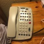 This is our phone in room 4055.  Yikes!!  I am sure there is a business process to check the pho