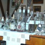 Display of fine qua Vitae and Brandies at Zum Turm Restaurant