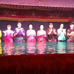 Water puppet show performers