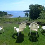 Adirondack chairs await