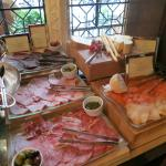 Assorted meats, cheese, and smoked fish - continental