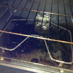 dirty stove, thick layer of grease