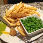 child's portion of fish and chips! YEUCK the fish smelt very fish