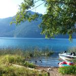 Lake Crescent - From our door at an A-frame chalet