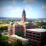 The Tarrant County Courthouse as seen from the 10t floor of the Worthington.