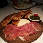 burrata & prosciutoo, very good...would recommend this one
