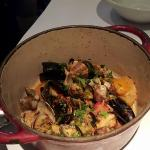 mussels & clam...BLAH...very bland, dry & not appealing at ALL