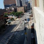 view from parking garage at hotel
